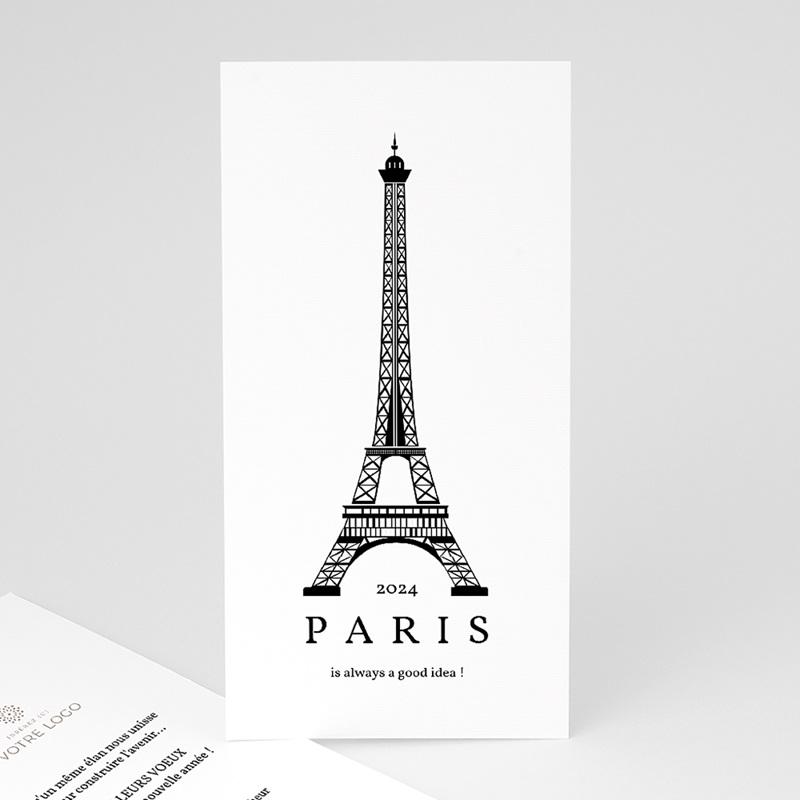 Carte de voeux entreprise Paris Voeux