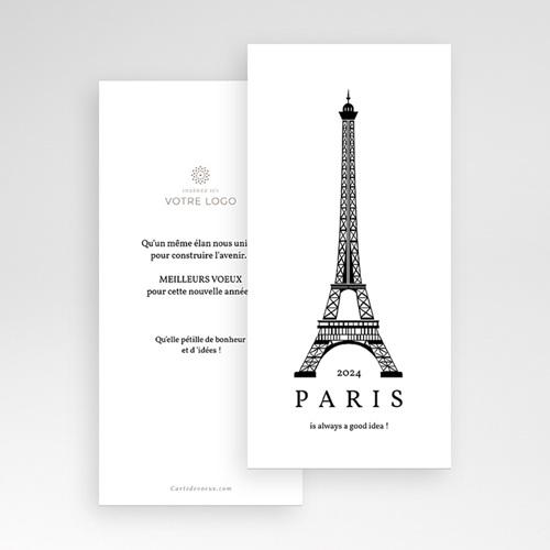 Carte de Voeux Entreprise Paris Voeux pas cher