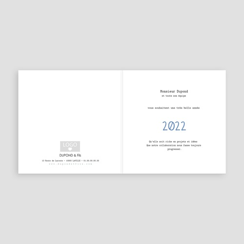 Cartes de Voeux Professionnels - Lumières de Noel 49953 preview