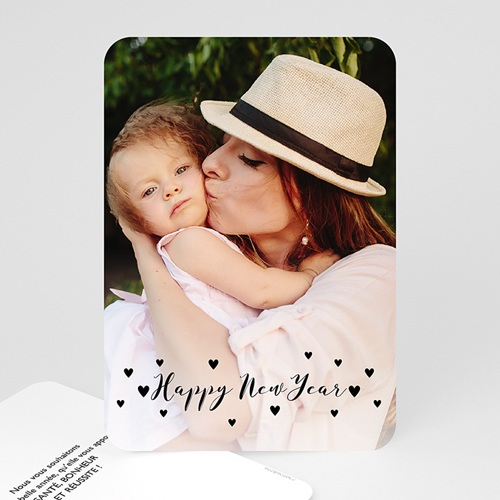 Carte de voeux Happy New Year Just simple