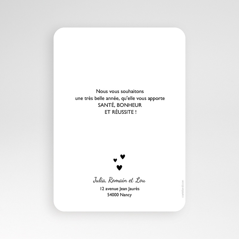 Carte de Voeux Happy New Year Just simple pas cher