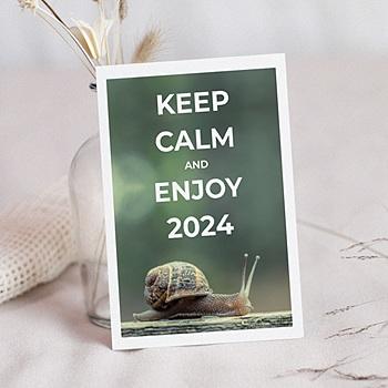 Achat carte de voeux entreprise keep calm