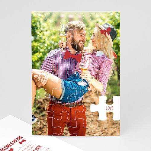 Faire-Part Mariage Personnalisés - Puzzle 50018