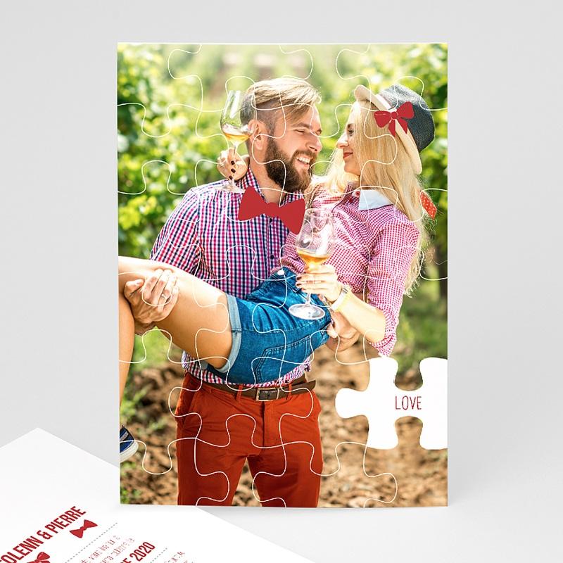 Faire-Part Mariage Puzzle