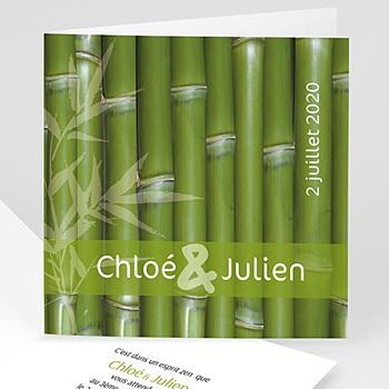 Faire Part Mariage Original - Thème Bambou - 3