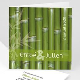 Faire-Part Mariage Thème Bambou