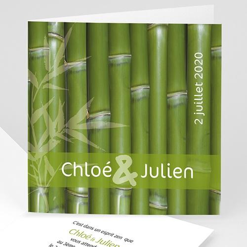 Faire-Part Mariage Personnalisés - Thème Bambou 5002