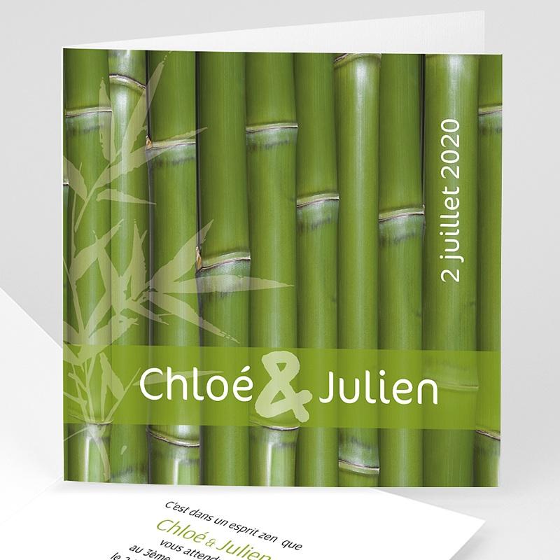 Faire-Part Mariage Original Thème Bambou