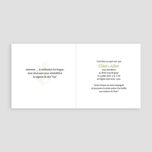 Faire-Part Mariage Personnalisés - Thème Bambou 5003 preview