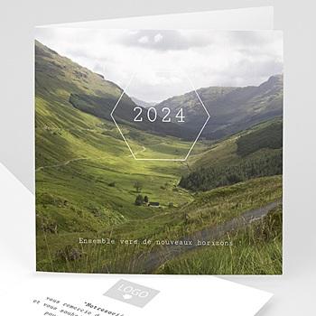 Achat carte de voeux entreprise paysage