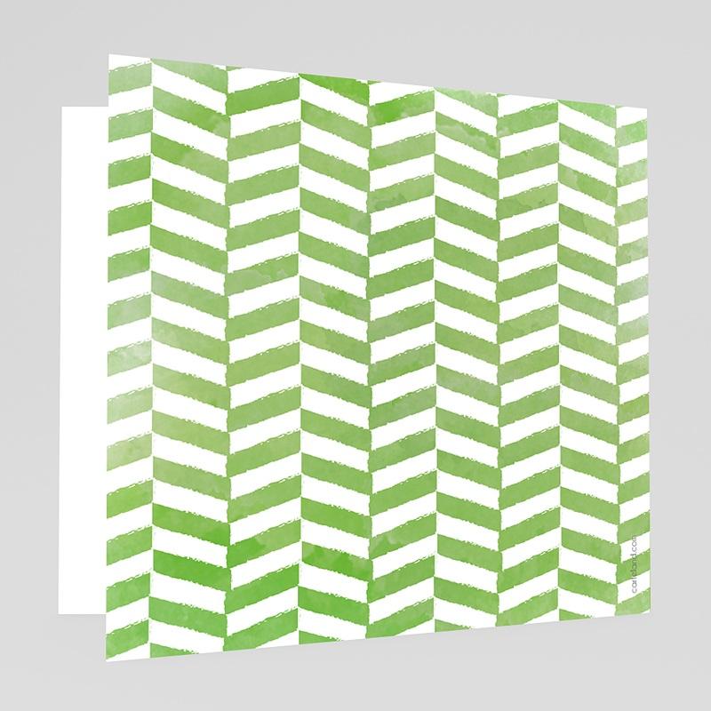 Faire-Part Mariage Vert Vert & Blanc gratuit
