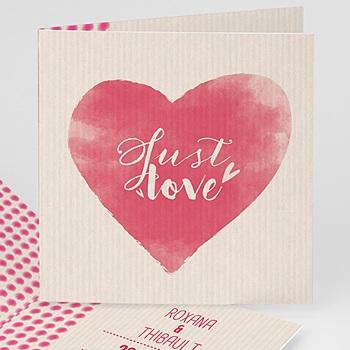 Faire-Part Mariage Personnalisés - Coeur à suivre - 0