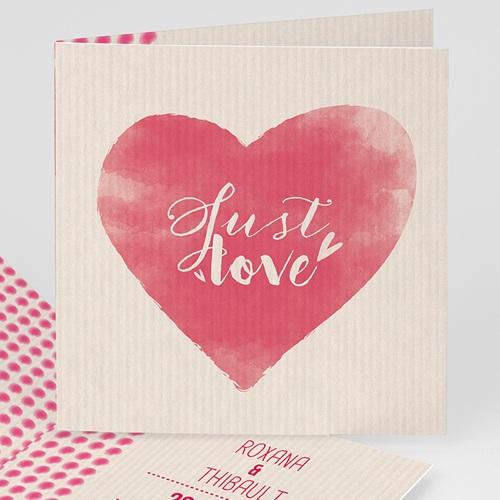 Faire-Part Mariage Personnalisés - Coeur à suivre 50217