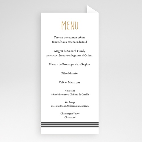 Menu de Mariage - Kraft & coeur 50557 preview