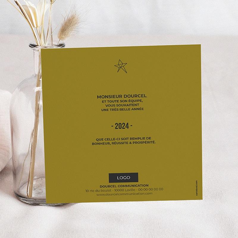 Carte de Voeux Happy New Year Renne Cubique pas cher