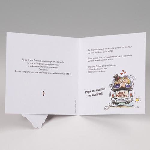 Faire-Part Mariage Traditionnel - Papa et maman se marient ! 50655 preview