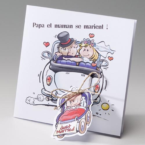 Bekannt Faire-Part Mariage Traditionnel - Papa et maman se marient  NG56