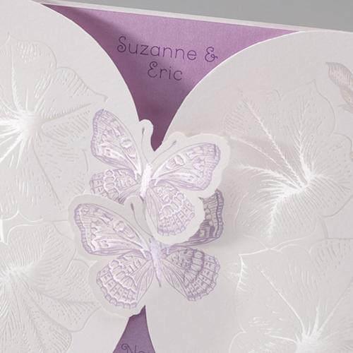Faire-Part Mariage Traditionnel - Duo de papillons 50660 preview