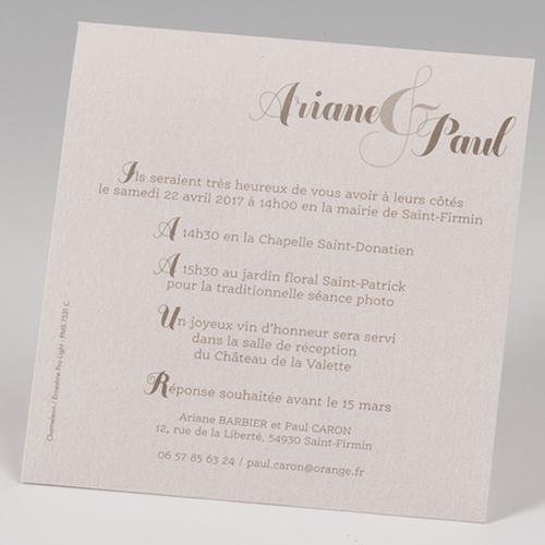 Faire-Part Mariage Traditionnel - Pochette Esperluette 50676 preview