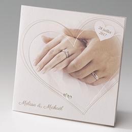 Faire-Part Mariage Traditionnel - Main dans la main - 1