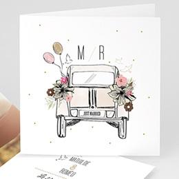 Faire-part mariage 2CV Citroen