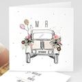 Faire-part mariage - 2CV Citroen - 5883