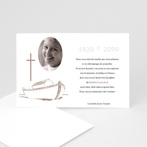 Carte Remerciement Décès Chrétien Barque de la foi