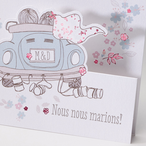 Faire-Part Mariage Traditionnel - Just Married 50801 preview