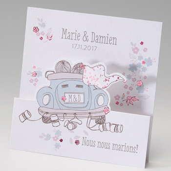 Faire-Part Mariage Traditionnel - Just Married - 2