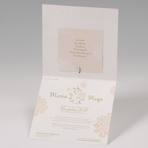 Faire-Part Mariage Traditionnel - Douceur Florale 50814 preview