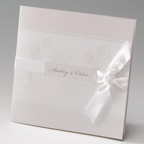 Faire-Part Mariage Traditionnel - Elegance florale 50845
