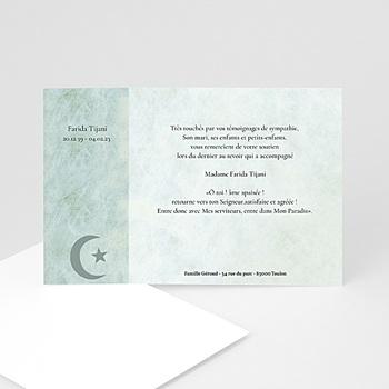 Carte remerciement décès musulman hommage à personnaliser