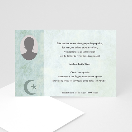 Remerciements Décès Musulman - Hommage 5101