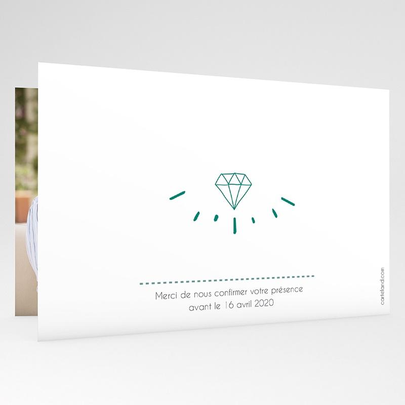 Carte Invitation Anniversaire Mariage Noces d'Emeraude gratuit