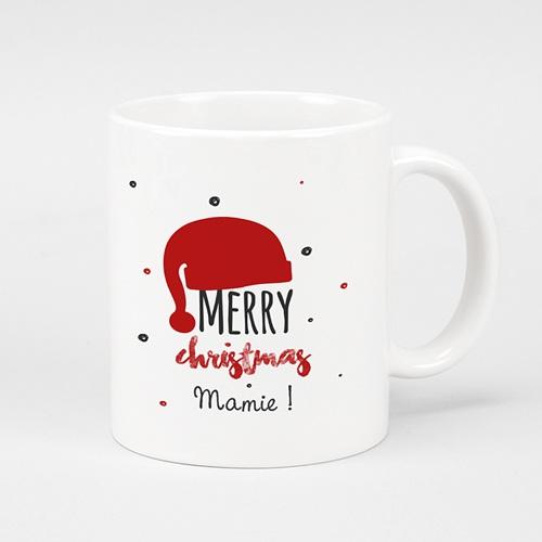 Mug Personnalisé Photo Bonnet du Père Noel
