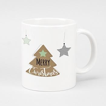 Mug Personnalisé - Sapin de Noël Kraft - 0