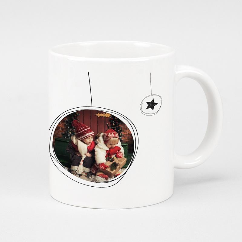 Mug Personnalisé Photo Boules Noël & Etoiles