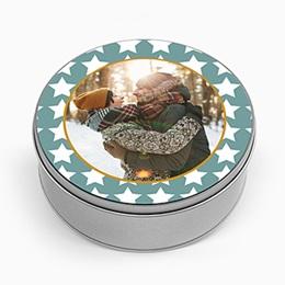 Boite métallique Cadeaux Etoiles Blanches