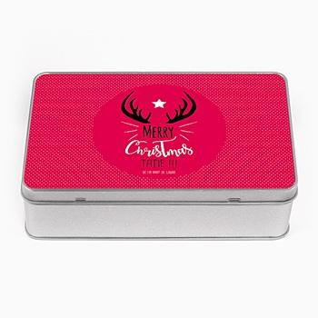 Boîte personnalisée rose et petits pois pas cher