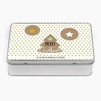 Boîte en métal personnalisée - Petits sablés - 0