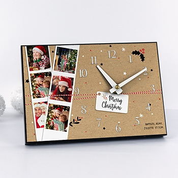 Horloge avec photo - Le temps de Noel - 0