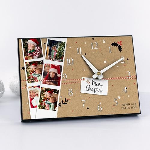 Horloge avec photo - Le temps de Noel 51191