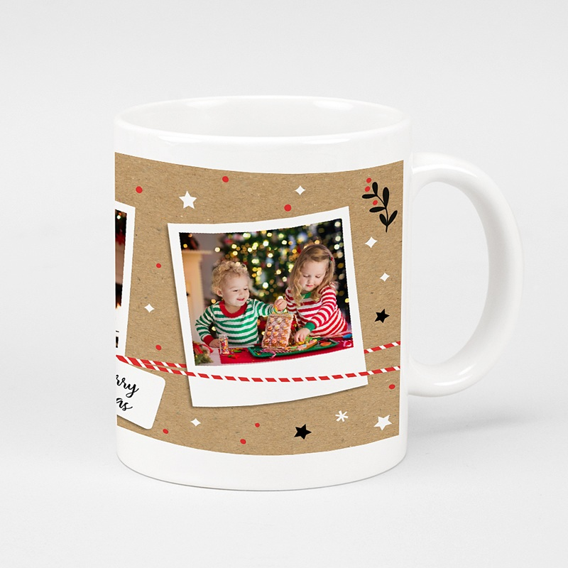 Mug Personnalisé Photo Christmas Tea, 3 photos