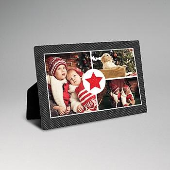 Cadre photo en bois - Etoile Rouge - 0