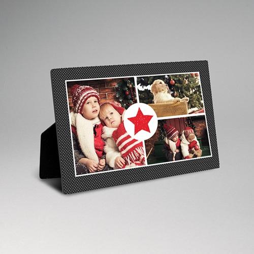 Cadre photo en bois - Etoile Rouge 51265
