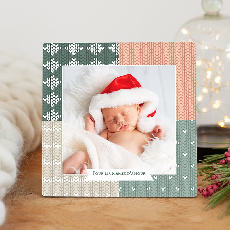 Cadre photo en bois - Patchwork festif 51283 thumb