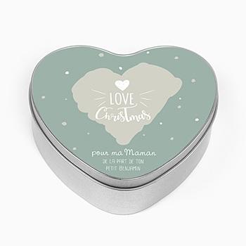 Boîte en métal personnalisée - Coeur &  Flocons - 0