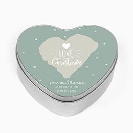 Boîte personnalisée Coeur &  Flocons
