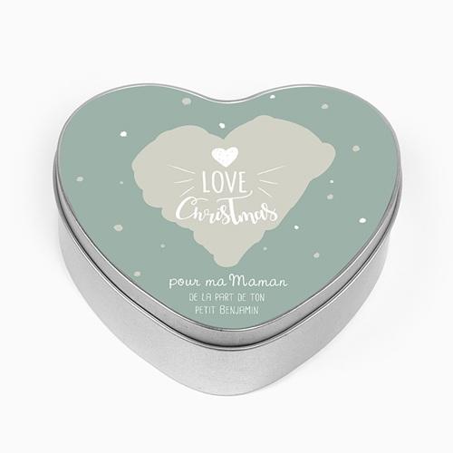 Boîte en métal personnalisée - Coeur &  Flocons 51312