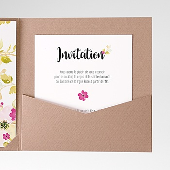 Carte d'invitation romance watercolor sur mesure